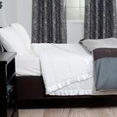 Lavish Home Solid Color White Down Alternative Blanket
