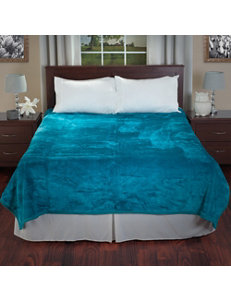 Lavish Home Aqua Blankets & Throws