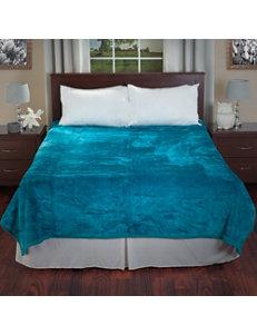 Lavish Home Aqua Blankets & Throws