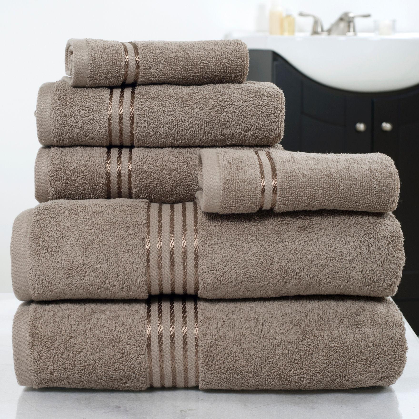Lavish Home Taupe Bath Towels