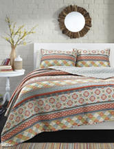 Great Hotels Collection Sienna Block Print Quilt Set