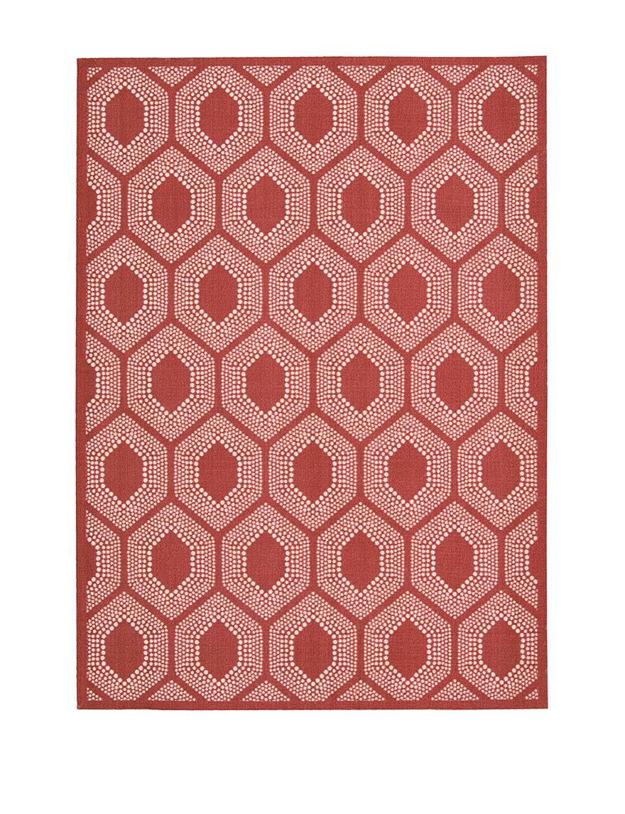 Waverly Poppy Outdoor Rugs & Doormats Outdoor Decor