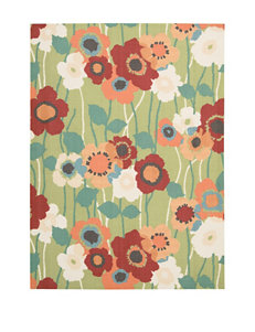 Waverly Sun n' Shade Seaglass Pic-A Poppy Indoor Outdoor Rug