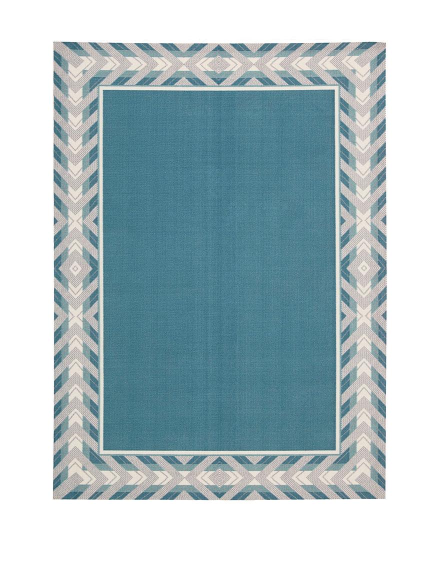 Waverly Blue Outdoor Rugs & Doormats Outdoor Decor