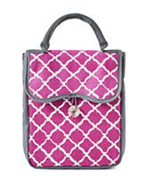 Fit & Fresh Magenta Round Tile Chelsea Lunch Bag