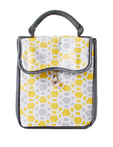Fit & Fresh Yellow & Grey Circle Print Chelsea Lunch Bag