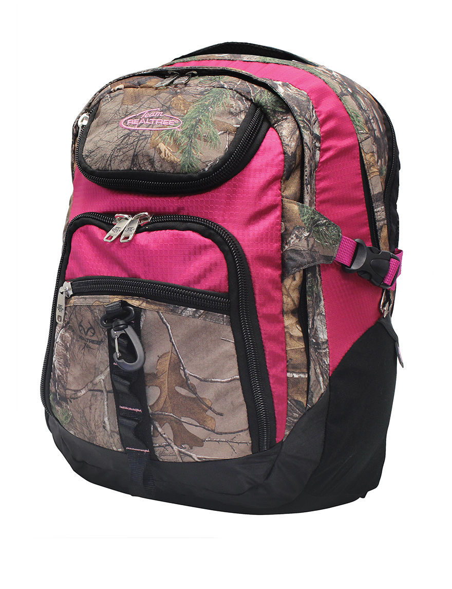 Realtree Raspberry Bookbags & Backpacks