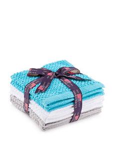 U.S. Polo Assn. Blue/ White/ Grey Washcloths Towels