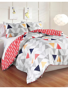 Great Hotels Collection Chloe Reversible Geometric Triangle Comforter Set