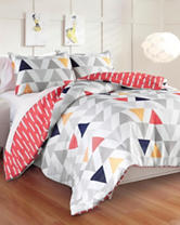 Great Hotels Collection Chloe 3-pc. Reversible Geometric Triangle Comforter Set