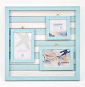 Concepts In Time Turquoise 3-Picture Wall Collage Frame