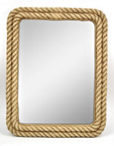 Concepts In Time Faux Rope Resin Mirror