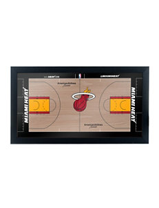 Miami Heat Official Court Framed Plaque