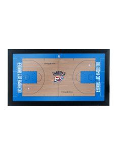 NBA Oklahoma City Thunder Official Court Framed Plaque