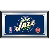 Utah Jazz Framed Logo Mirror
