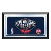 New Orleans Pelicans Framed Logo Mirror