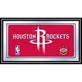 Houston Rockets Framed Logo Mirror
