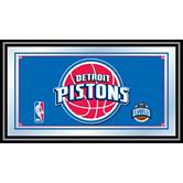 Detroit Pistons Framed Logo Mirror