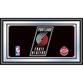 Portland Trail Blazers Framed Logo Mirror