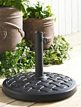 Walker Edison Round Umbrella Base Black