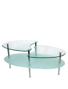 Walker Edison Silver Coffee Tables Living Room Furniture