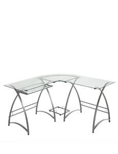 Walker Edison Silver Desks Home Office Furniture