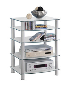 Walker Edison Silver TV Stands & Entertainment Centers Living Room Furniture