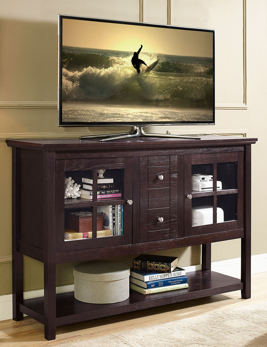 Walker Edison Espresso TV Stands & Entertainment Centers Living Room Furniture