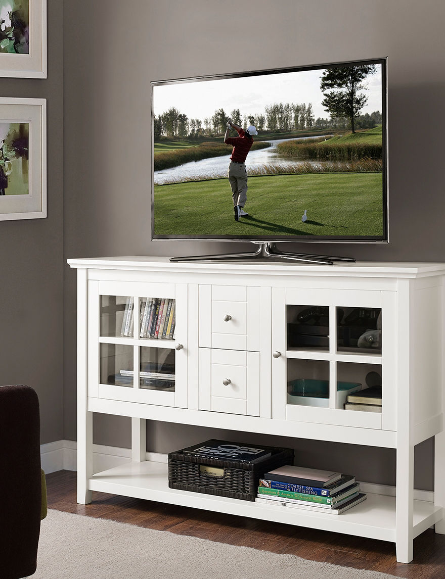 Walker Edison White TV Stands & Entertainment Centers Living Room Furniture