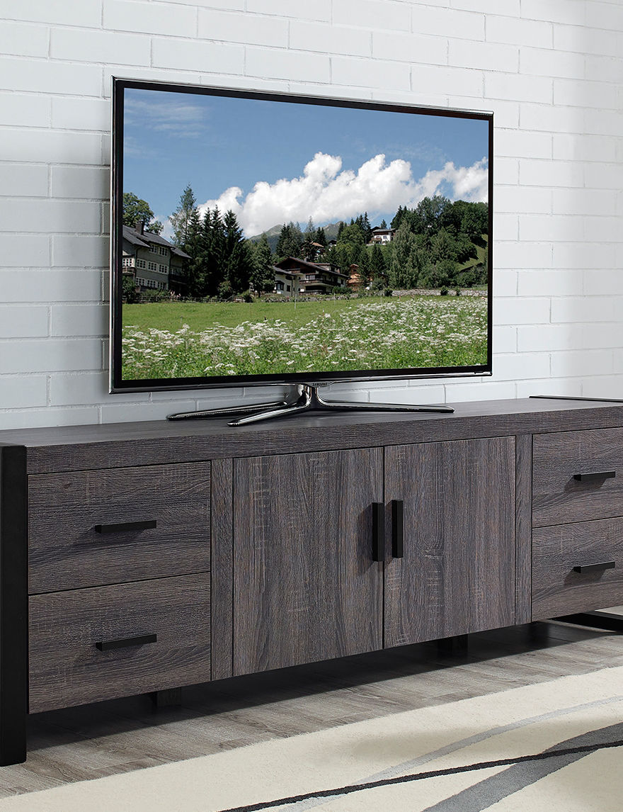 Walker Edison Charcoal TV Stands & Entertainment Centers Living Room Furniture