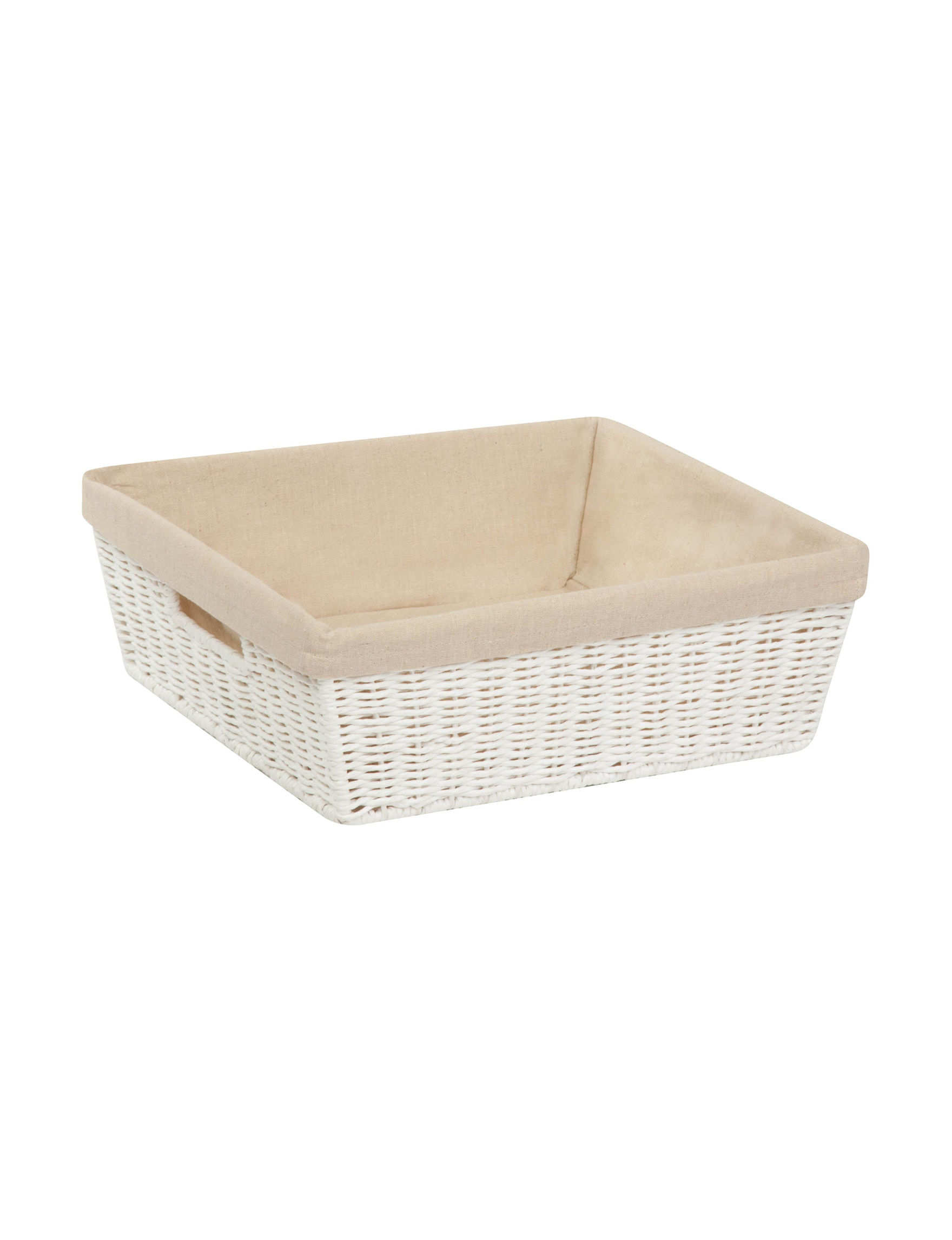 Honey-Can-Do International White Cubbies & Cubes Storage Bags & Boxes Storage & Organization