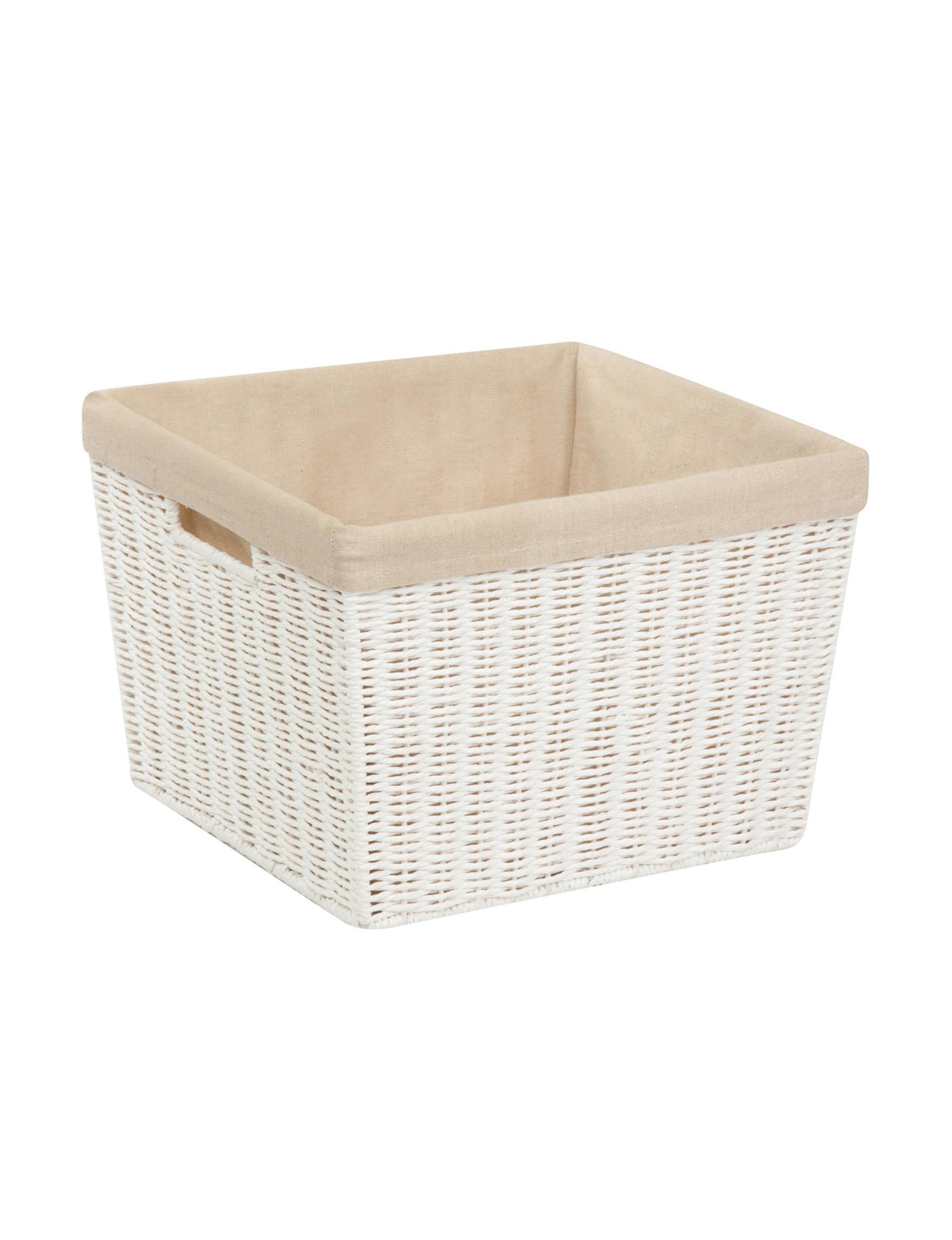 Honey-Can-Do International White Storage Bags & Boxes Storage & Organization