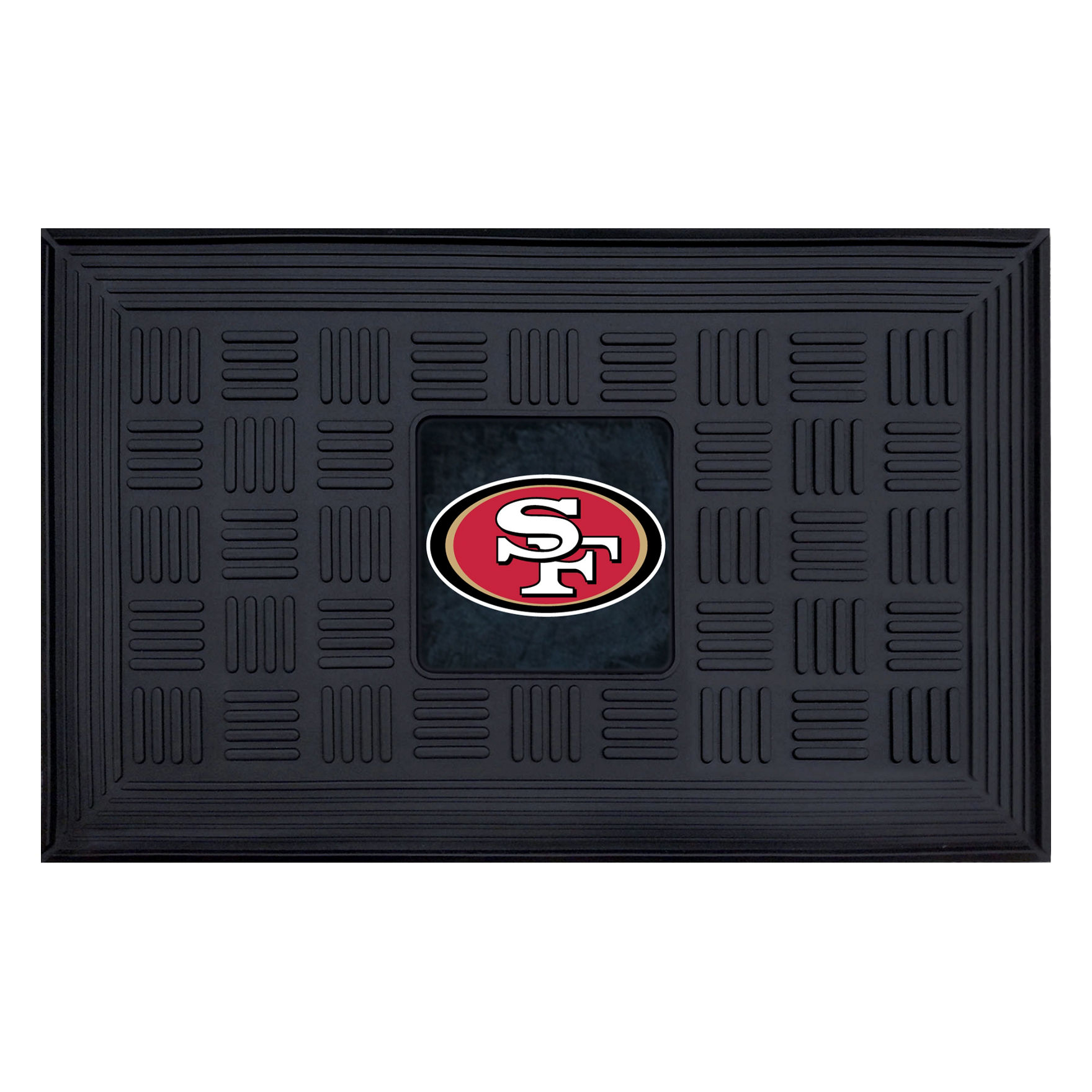Fanmats Black Outdoor Rugs & Doormats NFL Outdoor Decor Rugs
