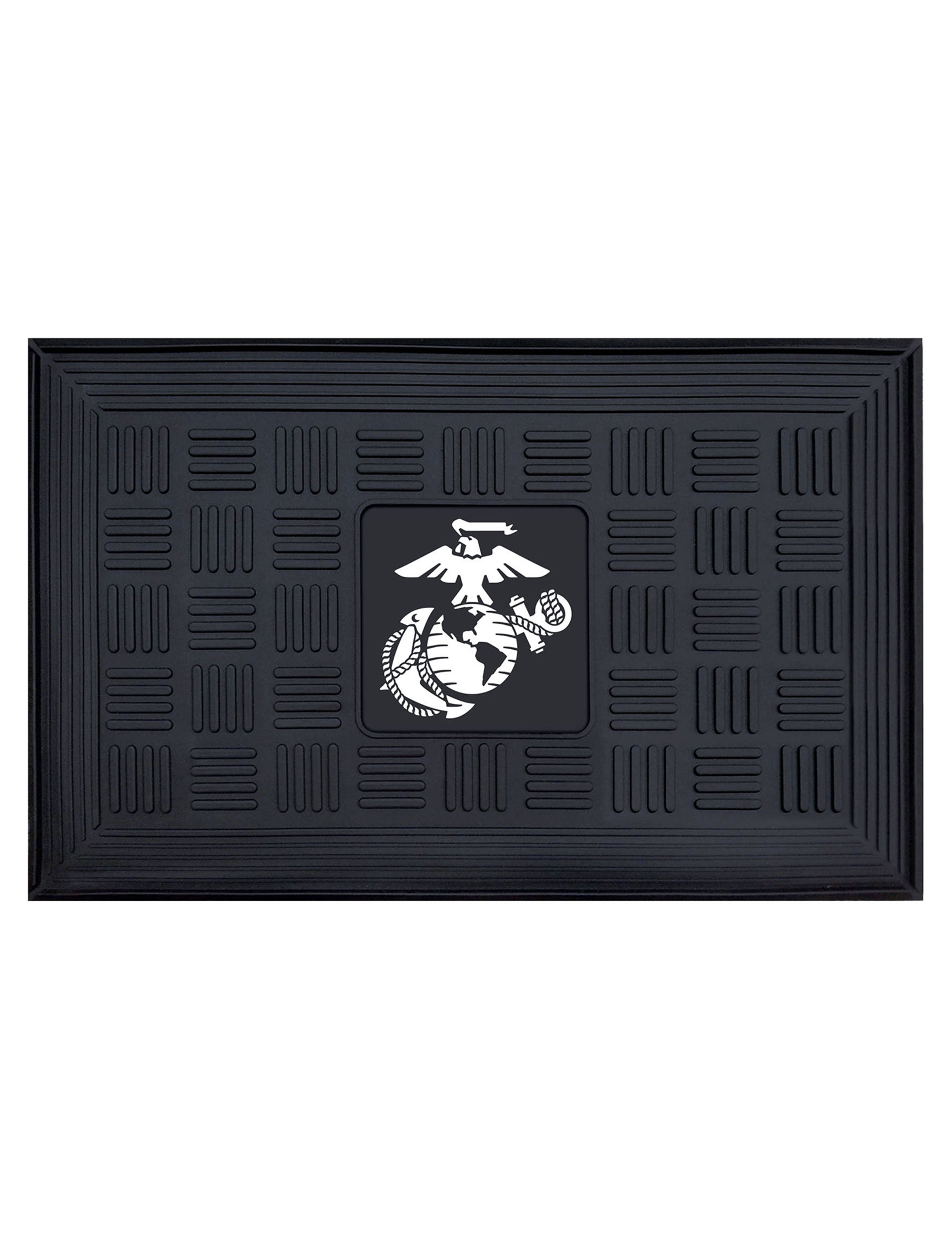 Fanmats Black Outdoor Rugs & Doormats Outdoor Decor