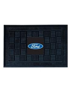 Fanmats Black Outdoor Rugs & Doormats Outdoor Decor