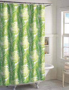 Destinations Green Shower Curtains & Hooks