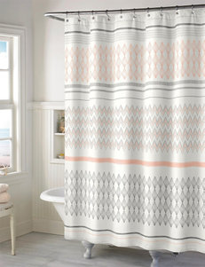 Style Lounge Salmon Shower Curtains & Hooks