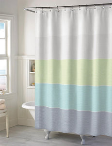 Style Lounge Multicolor Wide Stripe Shower Curtain