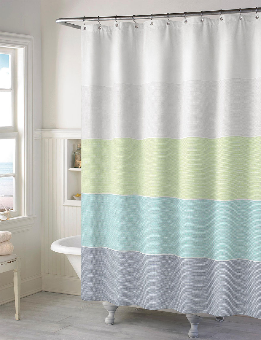 Style Lounge Multicolor Wide Stripe Shower Curtain Stage