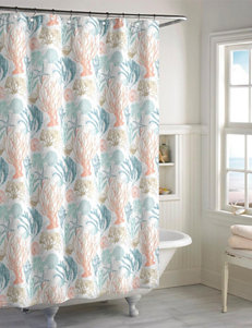 Destinations Aqua Shower Curtains & Hooks