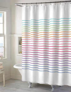 Style Lounge Rainbow Striped Print Shower Curtain