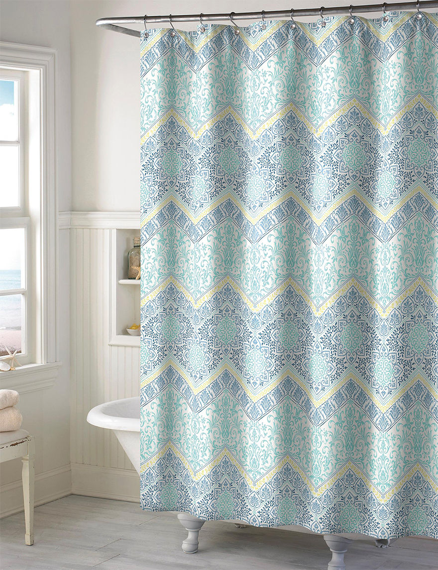 Style Lounge Aqua Bath Accessory Sets Shower Curtains & Hooks