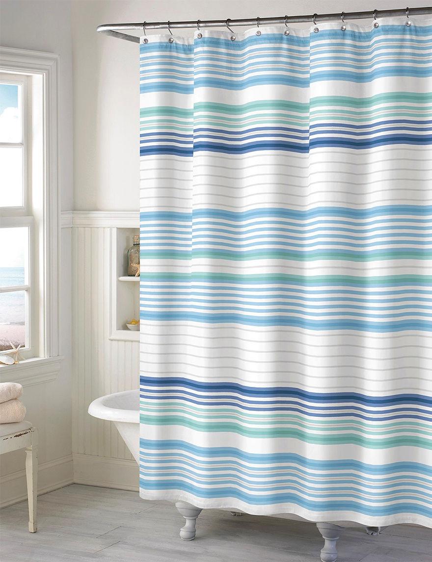 Style Lounge Aqua Shower Curtains & Hooks