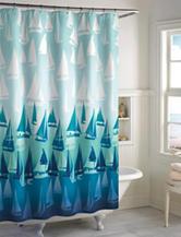 Destinations Blue Sailboat Shower Curtain