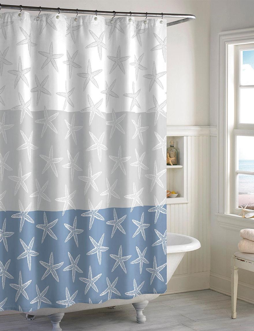 Destinations Blue Bath Accessory Sets Shower Curtains & Hooks