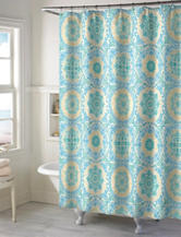 Style Lounge Teal Medallion Shower Curtain