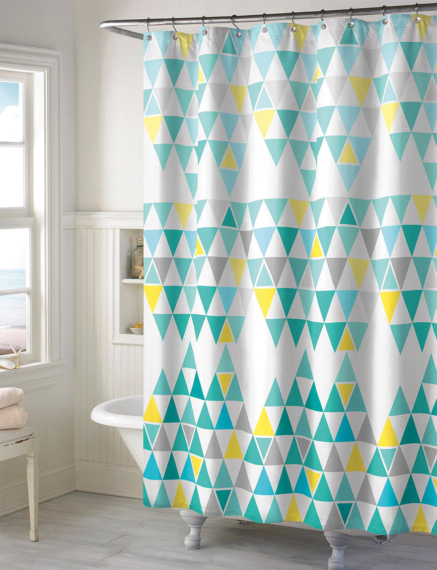 Style Lounge Teal Diamond Shower Curtain