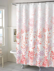 Style Lounge Coral Shower Curtains & Hooks