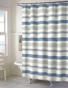 Style Lounge Landon Stripe Print Shower Curtain
