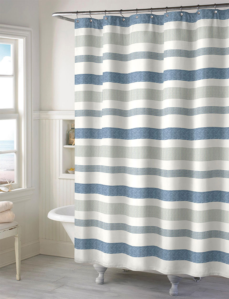 Style Lounge Blue Shower Curtains & Hooks